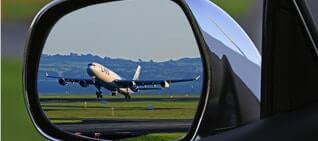 airport plane mirror
